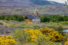 Kapel Patagonië Argentinië Stock Foto