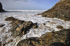 Kapel Porth. Cornwall, Engeland Stock Foto's