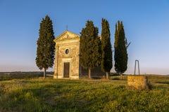 Kapel in Toscanië royalty-vrije stock foto