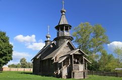 Kapel van de Aartsengel Michael Reservemuseum Pushkin Boldino Stock Foto's