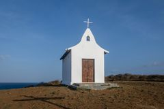 Kapel van Dos van Saopedro Pescadores - Fernando de Noronha, Pernambuco, Brazilië stock foto