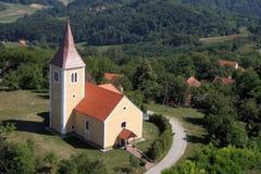 Kapel van Heilige Vitus in Komor Zacretski, Kroatië stock fotografie