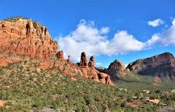 Kapel van het Heilige Kruis, Sedona, Arizona, Verenigde Staten stock foto's