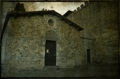 Kapel van het klooster van Badia een Passignano stock fotografie