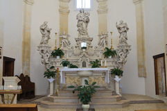 Kapel van Madonna-della Palma. Palmariggi. Puglia. Italië. Stock Afbeelding