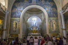 Kapel van Onze Dame van de Wonderbare Medaille, Parijs, Frankrijk Royalty-vrije Stock Foto's