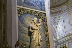 Kapel van Onze Dame van de Wonderbare Medaille, Parijs, Frankrijk Stock Foto's