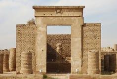 Kapel van Sarapis, Luxor Tempel, Egypte stock afbeeldingen