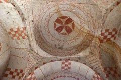 Kapel van St Barbara in Cappadocia, Turkije royalty-vrije stock foto