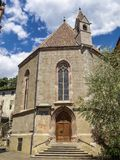 Kapel van St Barbara in Merano, Zuid-Tirol, Italië stock fotografie