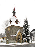 Kapel van St Elizabeth in Harrachov Tsjechische Republiek Stock Foto's