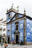 Kapel van Zielen in Porto, Portugal Stock Afbeelding
