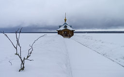 Kapelbaptistery in een Orthodox klooster Stock Afbeelding