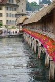 Kapelbrug, Luzern Stock Foto's