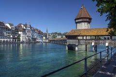 Kapelbrug - Luzerne - Zwitserland royalty-vrije stock foto's