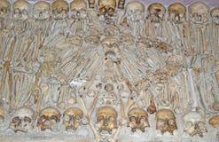 Kapell av ben i Evora, Portugal royaltyfria foton