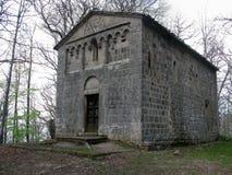 Kapell av den heliga kyrkan av kyrkogården i den San Quirico d'Orciaen i Tuscany Royaltyfria Bilder
