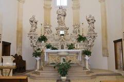 Kapell av den Madonna dellaen Palma. Palmariggi. Puglia. Italien. Arkivbilder