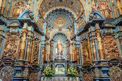 Kapell av Nuestra Senora de la Evangelizacion i Lima Cathedral, Peru Arkivfoton
