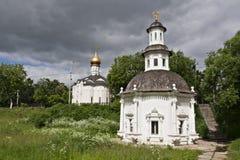 Kapell av Pyatnitskyen väl i Sergiev Posad Royaltyfri Fotografi
