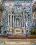 Kapell av Santa Caterina D 'Alessandria i kyrkan av Santa Caterina i Palermo Sicilien sydliga Italien arkivfoton
