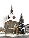 Kapell av St Elizabeth i Harrachov för republiktown för cesky tjeckisk krumlov medeltida gammal sikt Arkivfoton