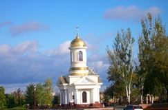Kapell av St Nicholas i Nikolaev, Ukraina Royaltyfria Foton