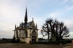 Kapell av StHubert på Amboise Royaltyfri Bild
