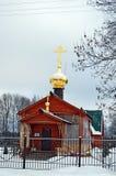 Kapell av symbolen av modern av guden all sörja glädje i by av Karmanovo Smolensk region royaltyfri bild