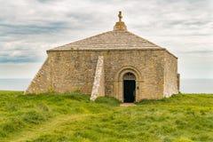 Kapell för St Aldhelms, Jurassic kust, Dorset, UK arkivbild
