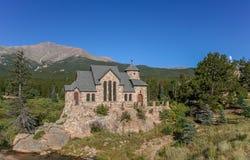 Kapell för St Malos i Allenspark nära Rocky Mountains National Pa arkivfoto