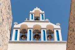 Kapell i Akrotiri - Santorini - Grekland Royaltyfri Foto