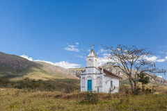 Kapell i bergen av Minas Gerais State - Brasilien Royaltyfri Bild