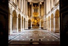 Kapell i den Versailles slotten, Frankrike Arkivbilder