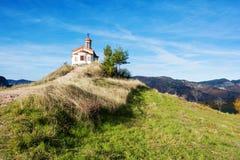 Kapell i det Rodopi berget, Bulgarien Arkivfoto