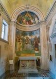 Kapell i duomoen av Spoleto Umbria centrala Italien royaltyfria foton