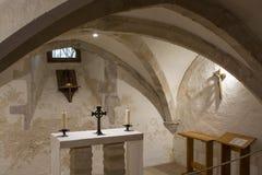 Kapell i kyrkan för helig Treenighet, Bosham, Sussex, England arkivbild