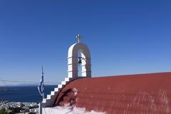 Kapell i Mykonos Royaltyfri Fotografi