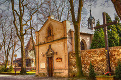 Kapell i Olkusz Polen Arkivfoto