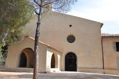 Kapell Notre Dame de Bon Port la Garoupe Antibes Fotografering för Bildbyråer