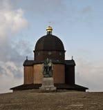 Kapell och staty av helgonet Cyril och Metod i Radh Fotografering för Bildbyråer