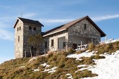 Kapell på överkanten av Mt. Rigi Royaltyfri Fotografi