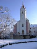 Kapell slott Bitov, tjeckisk republik, Europa Royaltyfria Bilder