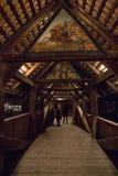 Kapellbrà ¼ cke -教堂桥梁,卢赛恩,瑞士 库存照片