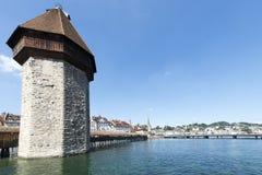 Kapellbrücke, Lucerne stock image
