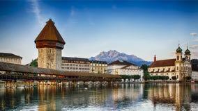 Kapellbrucke in Lucerne, Switzerland Stock Photography