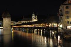 Kapellbrucke. Luzern. Die Schweiz. lizenzfreies stockbild