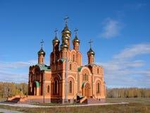 Kapelle in Achair-Kloster, Omsk-Region, Russland stockfotografie