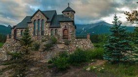 Kapelle auf dem Felsen, Zeitspanne Allenspark Colorado stock video footage
