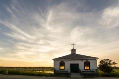 Kapelle auf dem Wasser stockfoto